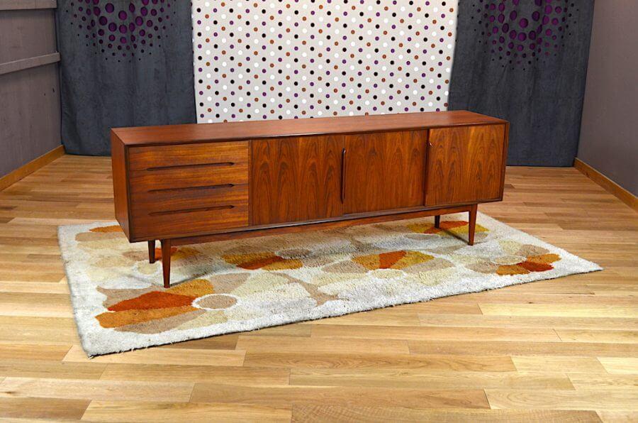 enfilade scandinave en teck vintage 1960. Black Bedroom Furniture Sets. Home Design Ideas