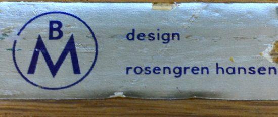 Table Danoise en Palissandre de Rio H. Rosengren Hansen 1964