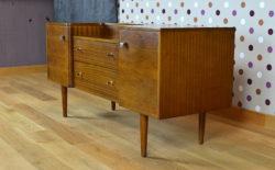 Enfilade Basse Vintage en Noyer et Acajou 1960