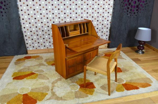 Secrétaire Design Scandinave en Teck Parker Knoll 1965