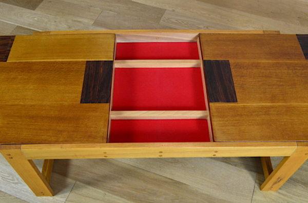 Table Basse Vintage en Chêne Blond Année 1960