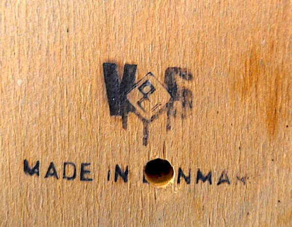 4 Chaises Danoise Vejle Stolefabrik en Teck 1965