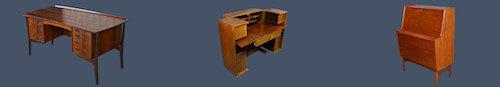 Bureau secrétaire scandinave vintage