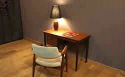 Lampe de Table Scandinave en Teck Editeur Esa 1960