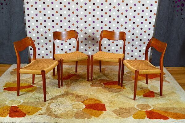 4 chaises scandinave