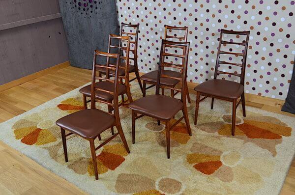6 chaises palissandre