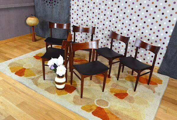 6 chaises en teck