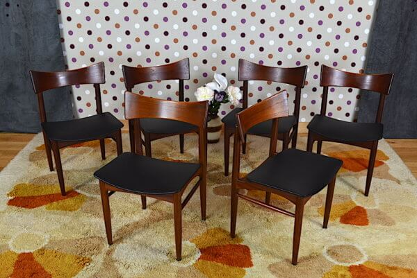 6 chaises 1960