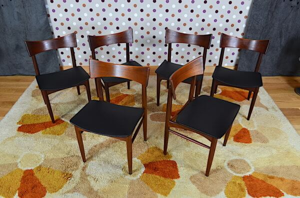 6 chaises scandinave en teck