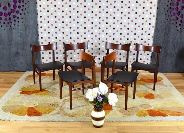 6 chaises en teck 1960