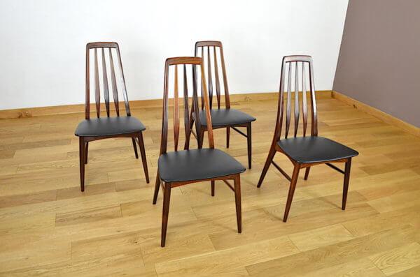 chaises palissandre vintage
