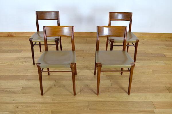 chaises cuir 1950