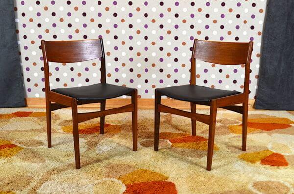2 Chaises Scandinave 1960 de Poul Volther pour Frem Rojle - A2427