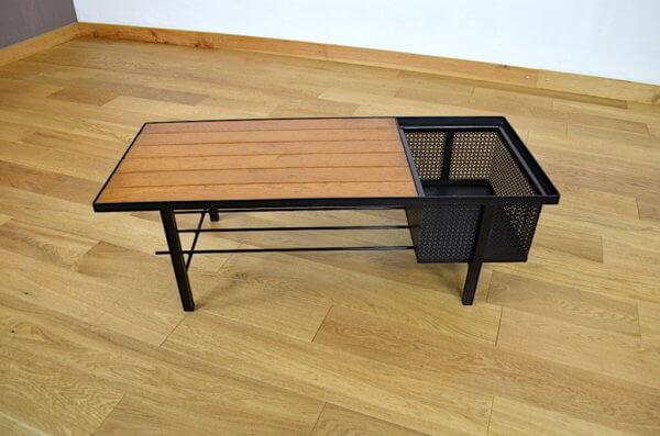 table basse metal et chêne
