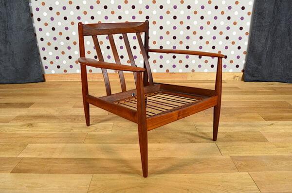 fauteuil scandinave en teck 1960