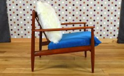 fauteuil teck scandinave