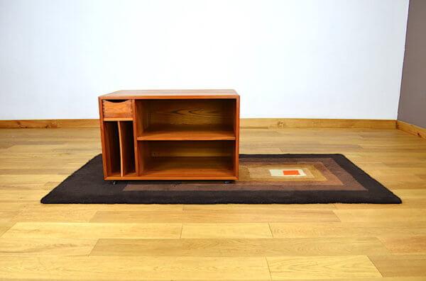 meuble tv hifi vintage scandinave en teck 1960