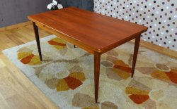 table scandinave teck vintage 1960