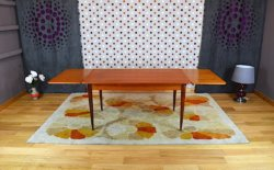table scandinave teck vintage 1960