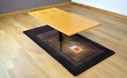table modulable pieds en croix vintage