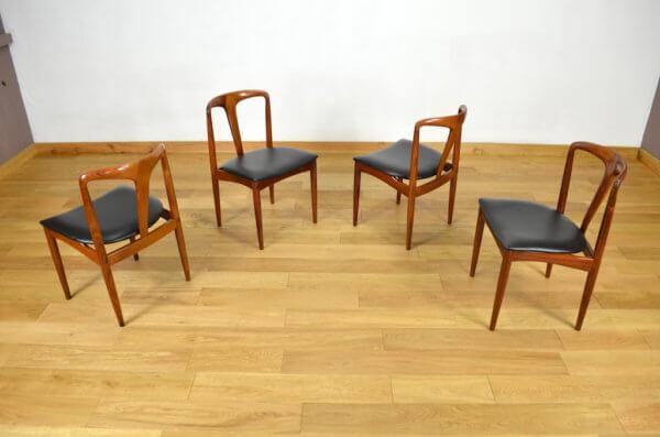 4 Chaises Juliane en Palissandre de Rio Johannes Andersen 1960 - A1905