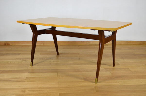 """Table Vintage """" Meubles SAM """" Pieds Compas 1960"""