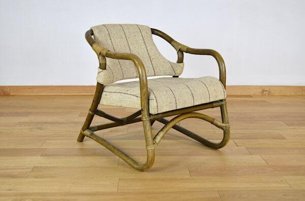 Fauteuil Relax Bambou de Rohé Noorwolde Vintage 1950