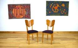 chaise fauteuil rené jean caillette vintage