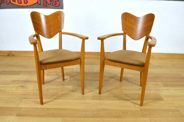 chaise fauteuil rêne jean caillette vintage