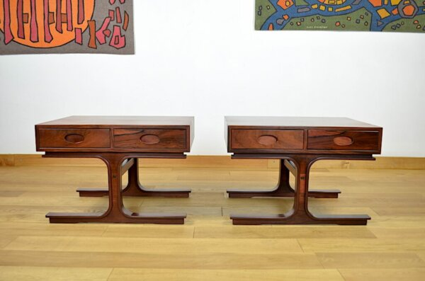 Paire de Tables d'Appoint de Gianfranco Frattini Édition Bernini 1960 Modèle 554