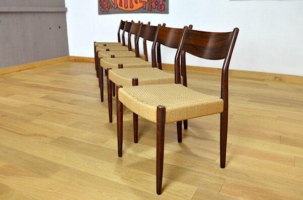 Chaises Design Scandinave en Palissandre de Rio Vintage 1960