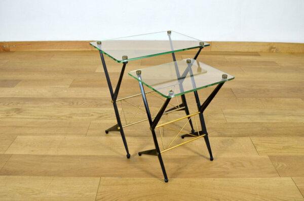Duo de Tables Basses Design Italien Angelo Ostuni 1950
