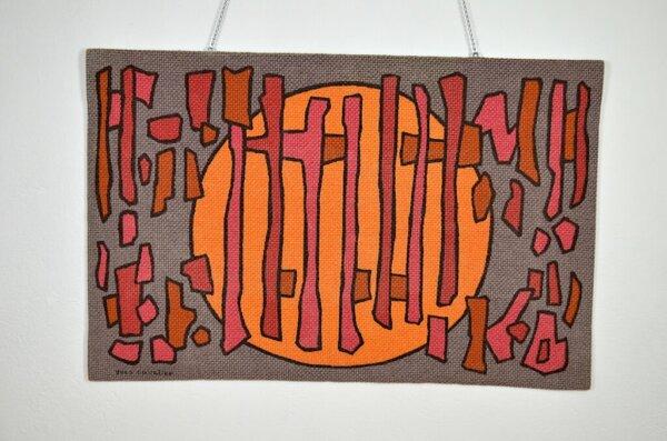 Tapisserie Murale d'Yves Cuvelier Vintage 1960 Solémio
