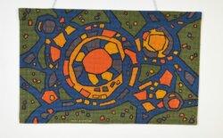 Tapisserie Murale Vintage Yves Cuvelier 1960 TAMURAL