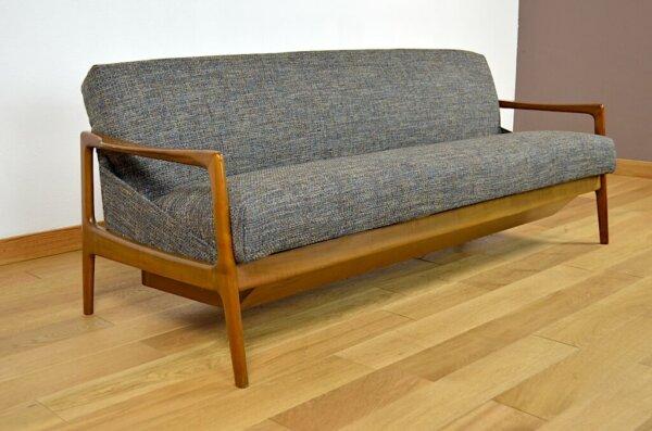 Daybed Design Scandinave Vintage 1960 pieds compas