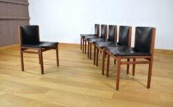 6 Chaises En Palissandre de Rio Alfred Hendrickx Vintage 1960 Belform