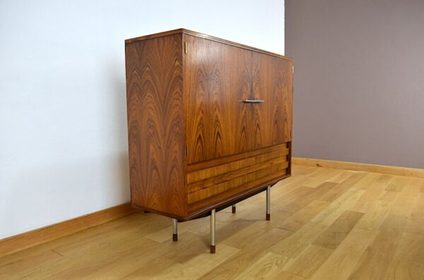 Meuble Design Scandinave Palissandre de Rio Alfred Hendrick 1960