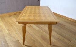 Table Vintage Pieds Compas en Chêne Clair 1950 / 1960