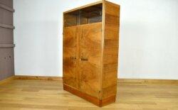 Armoire / Bibliothèque Art-Déco en Noyer 1930 - 1940