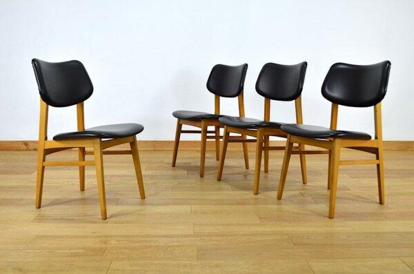 Chaises Design Scandinave en Hêtre Vintage 1950