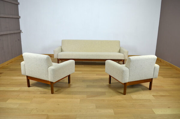 Daybed & 2 Fauteuils Design Scandinave Jussi Peippo 1960 asko vintage made in finland