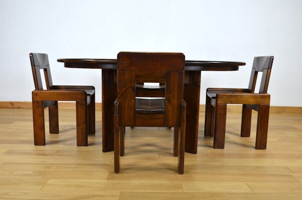 Ensemble Table & Chaises Vintage Roche & Bobois 1970