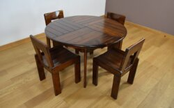 Ensemble Table & Chaises Vintage Fratelli Montina 1970