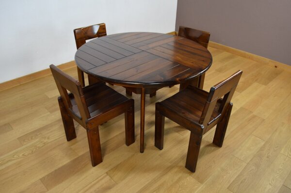 Ensemble Table & Chaises Vintage Fratelli Montina 1970