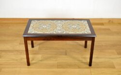 Table Basse Danoise en Palissandre de Rio Vintage 1960