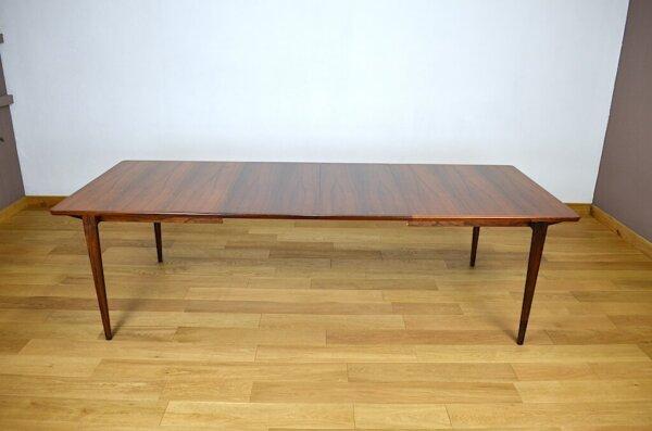 Grande Table Danoise en Palissandre de Rio Henry Rosengren Hansen 1960 brande mobelindustri scandinave