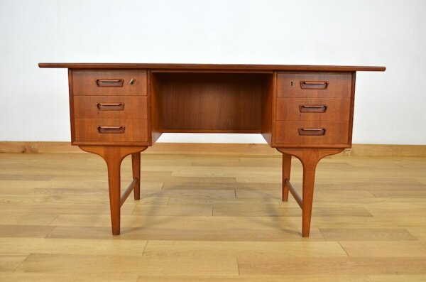 Bureau Danois en Teck de Gunnar Nielsen Tibergaard 1960