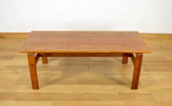 Grande Table Basse Scandinave en Teck Vintage 1960