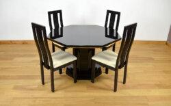 Table & 4 Chaises Vintage Eric Maville 1970 roche bobois