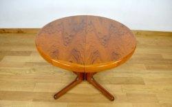 Table Ronde Design Scandinave & Pied Central Vintage